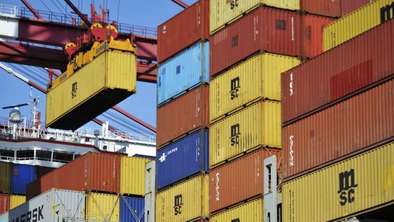 China's  exports hit by Trump's new $US200 billion of tariffs.