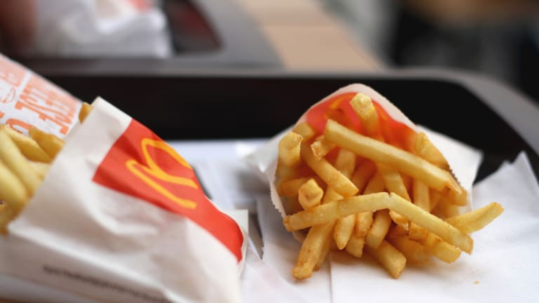 McDonald's does not profit from its supply chain.