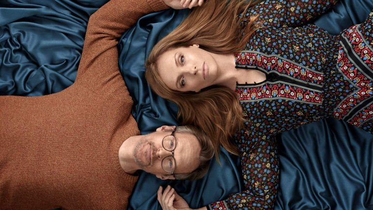Toni Collette with Steven Mackintosh, her Wanderlust husband.
