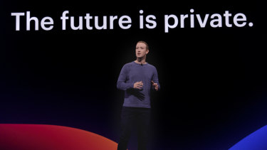 Mark Zuckerberg announces changes to Facebook at F8.