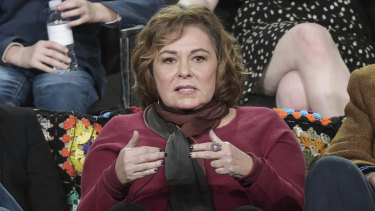 Roseanne Barr on a press tour for her hit show, Roseanne, in January this year.