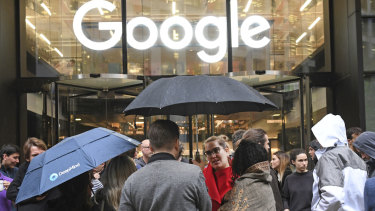 Protests included Google's London office.