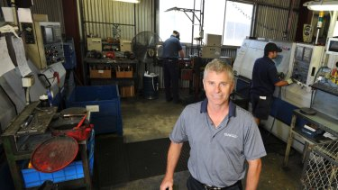 Then Dayco operations manager Daryl Day at the factory in Wagga in 2013.