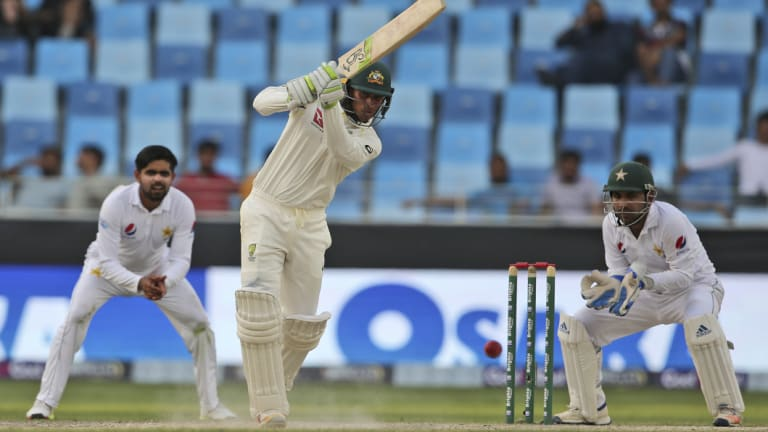 Leading light: Australia's Usman Khawaja has been the pick of the batsmen so far.