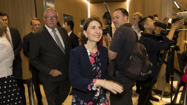 Health minister Brad Hazzard and Premier Gladys Berejiklian at the opening of Northern Beaches Hospital.