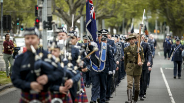 National Police Remembrance Day 2015 on St Kilda Road.