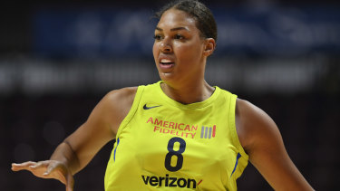 Commitment: Liz Cambage has revealed the fine line even the highest profile  professional women athletes tread to make a living.