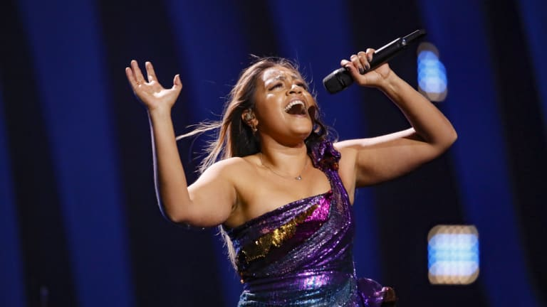 Jessica Mauboy at the 63rd annual Eurovision Song Contest.