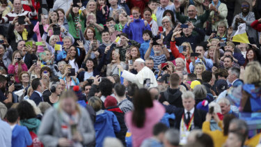 The reception of Pope Francis in Ireland has been described as 'lukewarm' but thousands flocked to see him at Croke Park, in Dublin.