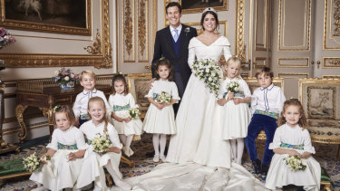 Princess Eugenie of York and Jack Brooksbank with their bridal party.