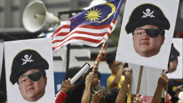 Jho Low, who is attempting to prevent the publication of a book into the 1MDB scandal, has been the subject of protests in Malaysia.