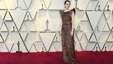 Return to form ... Emma Stone in Louis Vuitton.