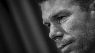 Keeping his powder dry and mouth shut: Exiled batsman David Warner refuses to say anything about the claims made against him.