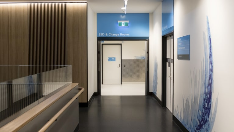 Inside the new Northern Beaches Hospital.