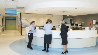 Inside the Northern Beaches Hospital.