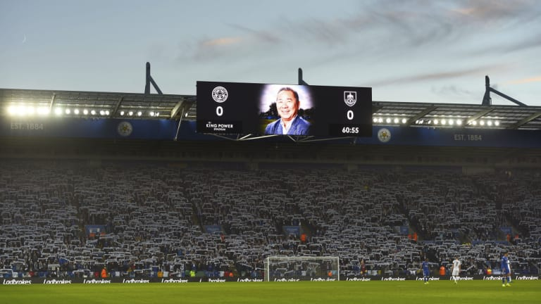 It was an emotional day in Leicester before and during the game.
