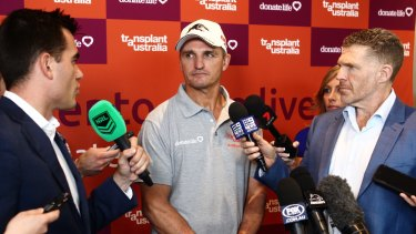 Now the pressure is really on: Ivan Cleary fronts the media.