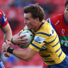 Moment of Gutherson magic nails Knights and sends Eels to NRL's top