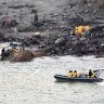 WHAKATANE, NEW ZEALAND - DECEMBER 13: In this handout image provided by the New Zealand Defence Force, recovery operation at Whakaari/White Island on December 13, 2019 in Whakatane, New Zealand. Six bodies have been successfully recovered from White Island and are now on board HMNZS Wellington. Eight people have been confirmed dead following a volcanic eruption at White Island on Monday. (Photo by New Zealand Defence Force via Getty Images)