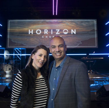 Horizon's senior pastors, married couple Alison and Brad Bonhomme.