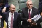 Treasurer Josh Frydenberg and Prime Minister Scott Morrison