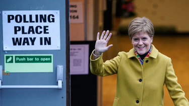 Scottish National Party leader Nicola Sturgeon had a strong election result.