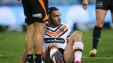Stalwart: Robbie Farah finally succumbs to the knee injury.