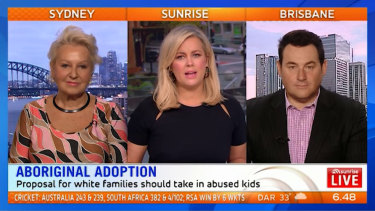 Sunrise host Samantha Armytage (centre) with Prue MacSween and Ben Davis.