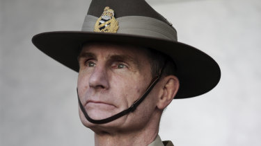 ADF chief Angus Campbell was preparing for an annual callout of reservists last year.