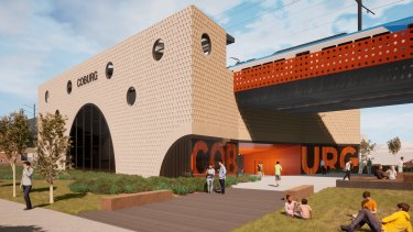 An artist's impression of the new Coburg Station.