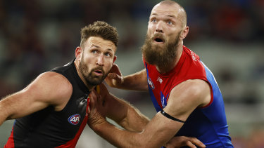 Cale Hooker and Max Gawn.