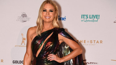 Sonia Kruger, host of The Voice and The Today Show, on the red carpet.