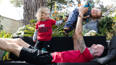 """""""We do all sorts of things...we built a castle inside the fireplace and hung out in there the other day,"""" Sydney father-of-two Ivan Crozier said."""