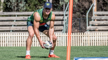 New Raiders five-eighth Jack Wighton has been working on his kicking game.