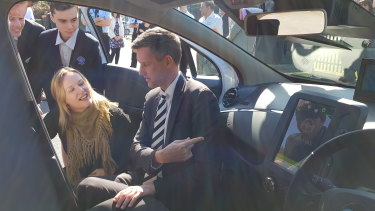 Queensland Transport Minister Mark Bailey has launched a pilot trial of a custom-built driverless car.