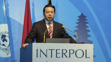 Arrested by China: former Interpol president Meng Hongwei.