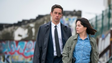 Killian Scott and Sarah Greene as they appeared in the small screen adaptation of two of Tana French's Dublin Murder Squad novels.