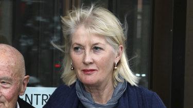 'Unconscionable': Karen Mentink leaves court in August.