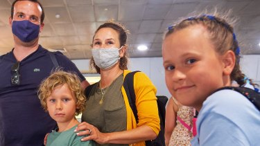 The Bodsworth family arrived in Melbourne on a Qantas flight out of Queensland unaware of what was unfolding.