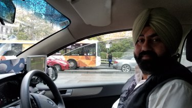 Taxi driver Dawinder Singh.