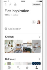 Users 'pin' and search for pictures on Pinterest.