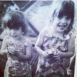 Kerri Sackville, right, and her late sister Tanya, as children.