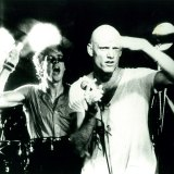 Rob Hirst and Peter Garrett at a live show in the early 1980s.