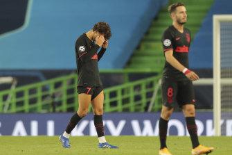Atletico Madrid's heartbroken goalscorer Joao Felix after the final whistle.