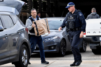The police raid last month at Derek Christopher's Keilor house.