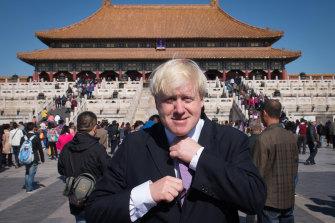 British PM Boris Johnson on a trip to Beijing as London mayor in 2013.
