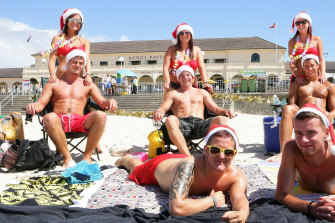 British backpackers at Bondi Beach. Young foreigners love seeing Australia, so why don't young Australians?