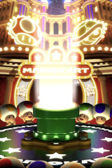 The bright lights and happy sounds that accompany the warp pipe will be familiar to players of other games with gambling mechanics.