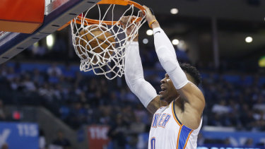 Russell Westbrook became just the second player in league history to reach the feat.