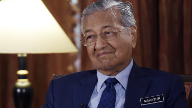 Malaysia's Prime Minister Mahathir Mohamad pictured in Putrajaya, Malaysia, on Monday.